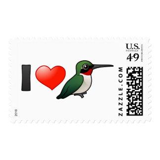 I Love Ruby-throats Postage