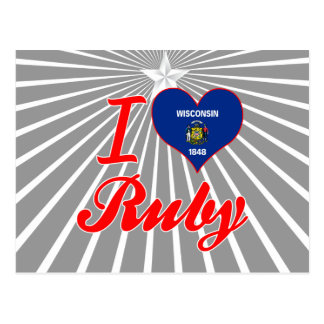I Love Ruby, Wisconsin Post Card