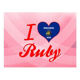 I Love Ruby, Wisconsin Post Cards