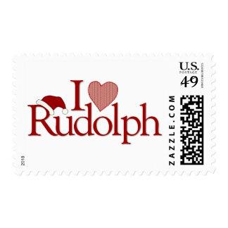 I Love Rudolph Postage