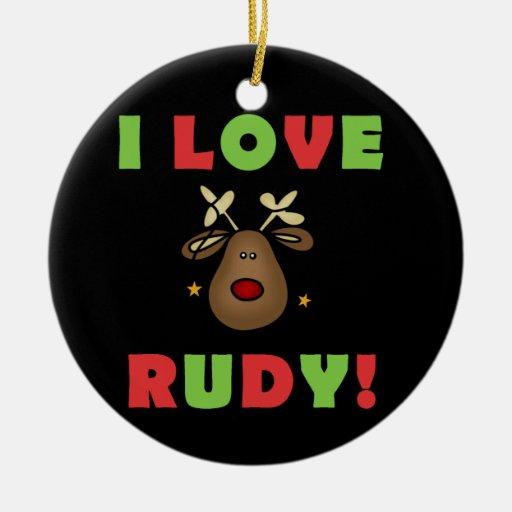 I Love Rudy Christmas Keepsake Ornament