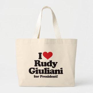 I Love Rudy Giuliani for President Large Tote Bag