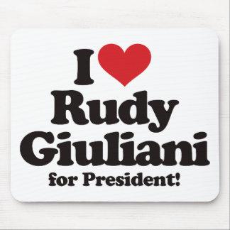 I Love Rudy Giuliani for President Mouse Pad