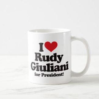 I Love Rudy Giuliani for President Classic White Coffee Mug