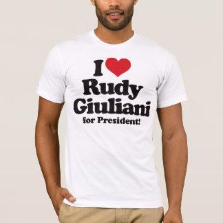 I Love Rudy Giuliani for President T-Shirt