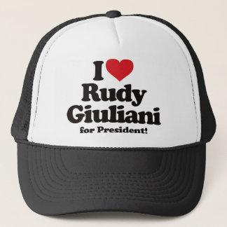 I Love Rudy Giuliani for President Trucker Hat