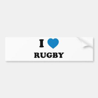 I Love Rugby Car Bumper Sticker