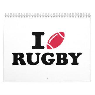 I love Rugby Calendar