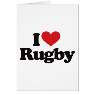 I Love Rugby Card