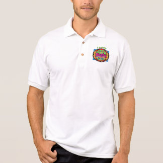 """I Love Rugby"" Colorful Emblem Polo Shirt"