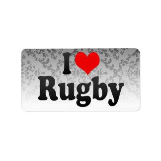 I love Rugby Custom Address Label