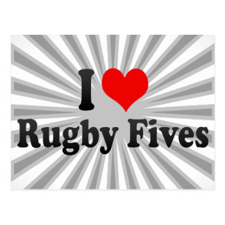 I love Rugby Fives Post Card