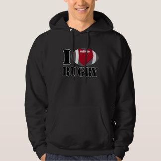I Love Rugby Football Hoodies