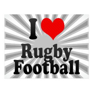 I love Rugby Football Postcard