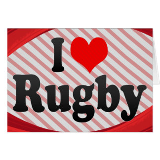I love Rugby Greeting Card