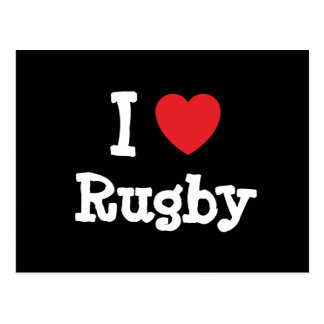 I love Rugby heart custom personalized Postcard