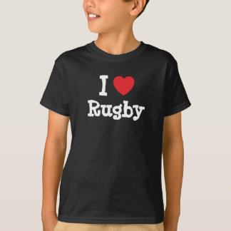 I love Rugby heart custom personalized T-Shirt