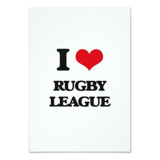 I Love Rugby League 3.5x5 Paper Invitation Card