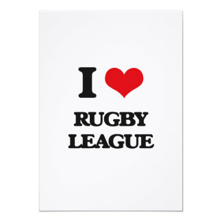 I Love Rugby League 5x7 Paper Invitation Card