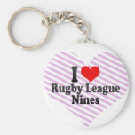 I love Rugby League Nines Keychain