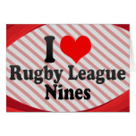 I love Rugby League Nines Stationery Note Card