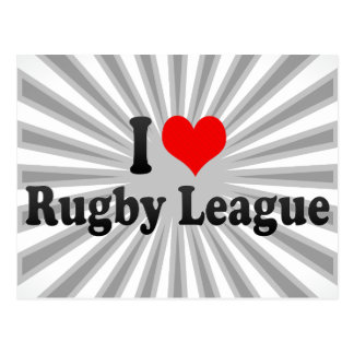 I love Rugby League Post Cards