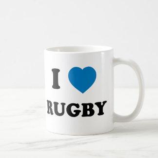 I Love Rugby Classic White Coffee Mug