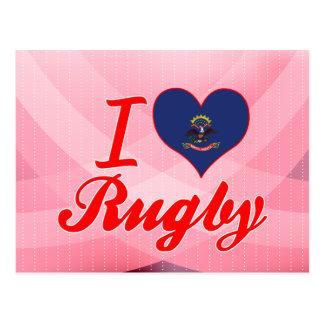 I Love Rugby, North Dakota Postcard