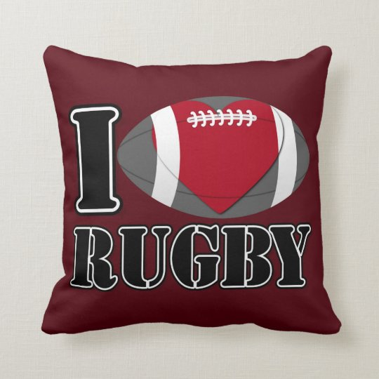I Love Rugby Pillow