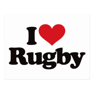 I Love Rugby Post Card