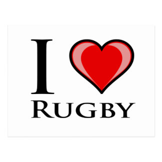 I Love Rugby Post Cards