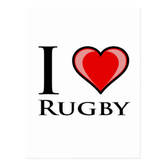 I Love Rugby Postcard