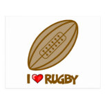 I Love Rugby Postcard