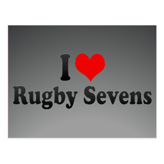 I love Rugby Sevens Post Card