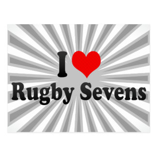 I love Rugby Sevens Post Cards