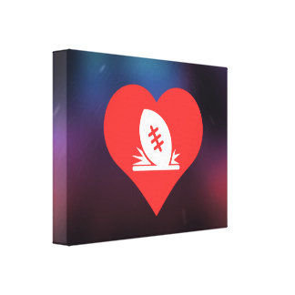 I Love Rugby Tries Cool Symbol Canvas Print