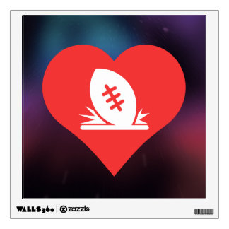 I Love Rugby Tries Cool Symbol Wall Decal