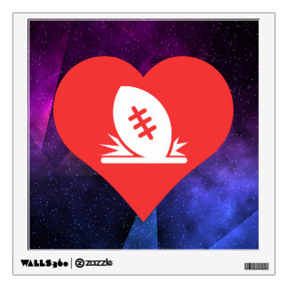 I Love Rugby Tries Cool Symbol Wall Skin
