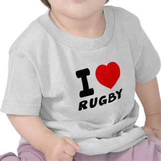 I Love Rugby Tees
