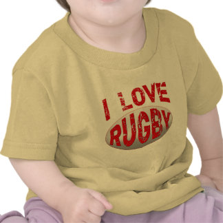 I Love Rugby Tshirts, Apparel and Products