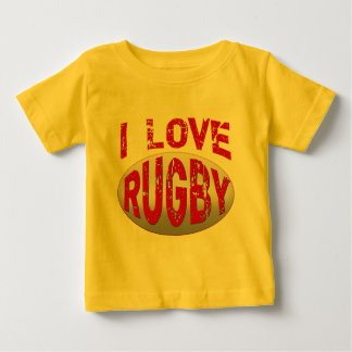 I Love Rugby Tshirts, Apparel and Products Baby T-Shirt