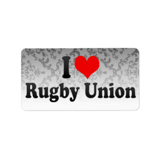 I love Rugby Union Labels