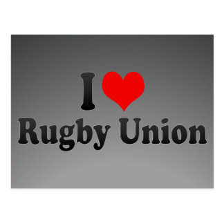 I love Rugby Union Postcards
