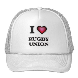 I Love Rugby Union Trucker Hat