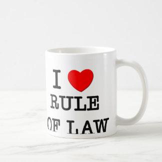 I Love Rule Of Law Classic White Coffee Mug