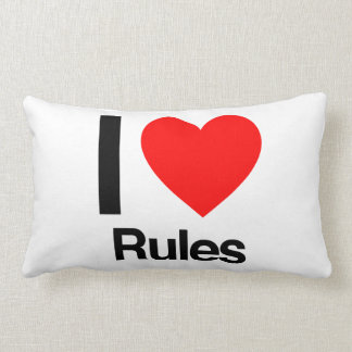 i love rules pillow