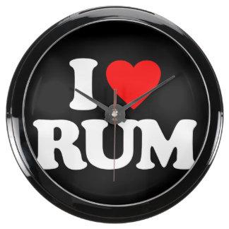 I LOVE RUM AQUARIUM CLOCK