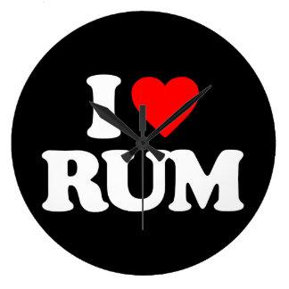 I LOVE RUM WALL CLOCKS