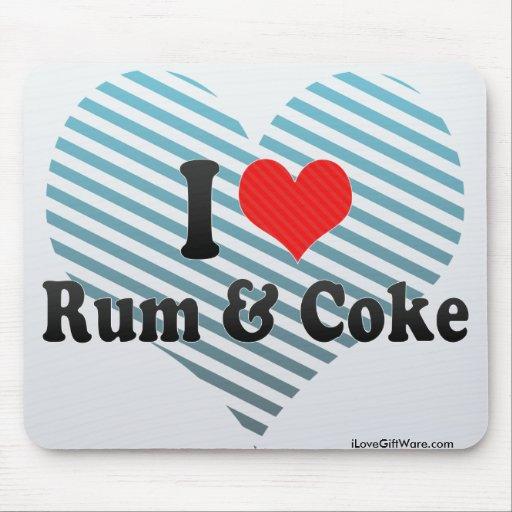 I Love Rum & Coke Mouse Pads