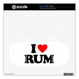I LOVE RUM PSP 3000 SKIN